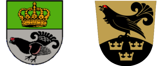 Coat of arms of K�nigsmoor and the Coat of Arms of Tuusniemi